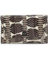 Akris - Anouk Mini Watersnake Chain Envelope Clutch Bag - Lyst