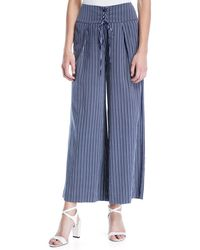 PAIGE - Charisma Striped Wide-leg Pants - Lyst