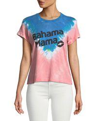 Wildfox - Bahama Mama Graphic Tie-dye Tee - Lyst