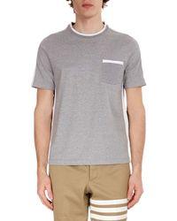 Thom Browne - Men's Bi-color Crewneck T-shirt - Lyst