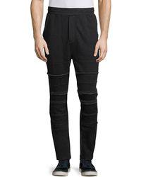 Private Stock - Raw-edge Paneled Jogger Pants - Lyst
