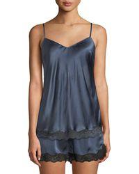 Neiman Marcus - Lace-trim Silk Camisole - Lyst
