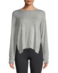 Alala - Heron Mesh-back Crewneck Sweatshirt - Lyst