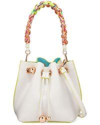 Sophia Webster - Romy Mini Leather Bucket Bag With Braided Handle - Lyst