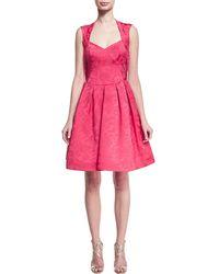 Zac Posen - Sleeveless Jacquard Cocktail Party Dress - Lyst