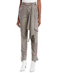 23eff3b0d5a18a Johanna Ortiz - Aesthetic Grunge Scarf-belt Skinny Plaid Suiting Pants -  Lyst