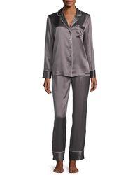 Neiman Marcus - Silk Satin Two-piece Pajama Set - Lyst