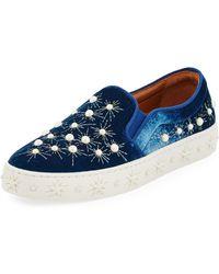 Aquazzura - Cosmic Pearls Slip-on Sneakers - Lyst