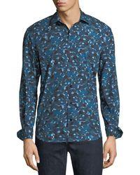 Culturata - Men's Abstract-print Cotton Sport Shirt - Lyst