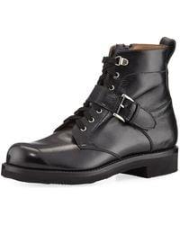 Gravati - Textured Leather Hiking Boot - Lyst