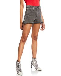 Rag & Bone - Maya High-rise Denim Shorts W/ Side Zippers - Lyst