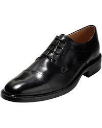 Cole Haan - Warren Cap-toe Leather Oxford Black - Lyst