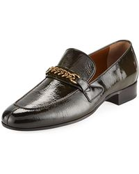 Tom Ford - Patent Leather Curb-chain Loafer - Lyst