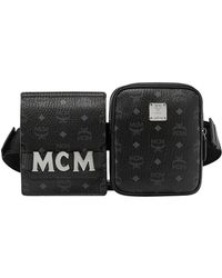 MCM - Stark Double Logo Belt Bag - Lyst