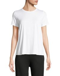Eileen Fisher - Short-sleeve Lightweight Jersey Top - Lyst
