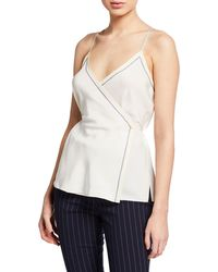 Rag & Bone - Lina Silk Wrap Tank Top - Lyst