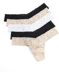 Hanky Panky - Five-pack Low-rise Thongs - Lyst