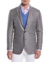 Kiton - Men's Textured Weave Three-button Blazer - Lyst