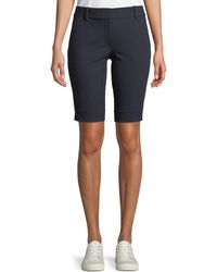 Theory - Basic Pull-on Approach Twill Bermuda Shorts - Lyst