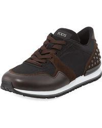Tod's | Men's Mesh & Leather Trainer Sneaker | Lyst
