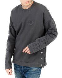 True Religion - Oversized Fleece Knit Sweater - Lyst