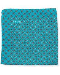 Eton of Sweden - Neat Square Silk Pocket Square - Lyst