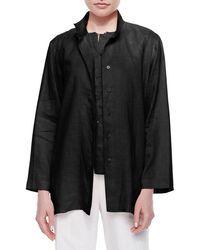 Go> By Go Silk - Linen Button-front Jacket - Lyst