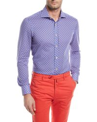 Kiton - Rings-print Cotton Sport Shirt - Lyst
