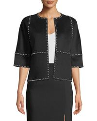 Michael Kors - Half-sleeve Melton-studded Coat - Lyst