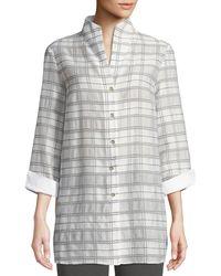 Misook Collection - 3/4-sleeve Soft Plaid Shirt Jacket - Lyst
