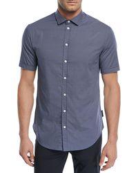 Emporio Armani - Micro-pattern Short-sleeve Sport Shirt - Lyst