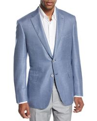 Brioni - Check Wool-silk Two-button Sport Coat - Lyst