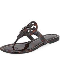 9d14773cd0b323 Tory Burch - Miller Printed Flat Thong Sandals - Lyst