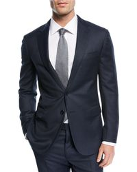 Ralph Lauren - Textured Birdseye-knit Two-piece Suit - Lyst