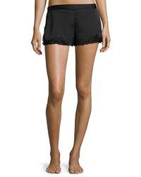 Natori | Feathers Lace-trim Satin Lounge Shorts | Lyst
