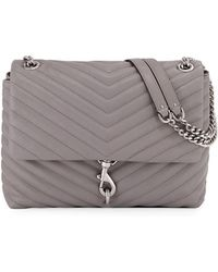 Rebecca Minkoff - Edie Quilted Leather Flap Shoulder Bag - Lyst