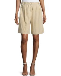 Lafayette 148 New York   Clarkson Pleated-front Shorts   Lyst