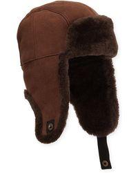 96d16d69088a0 UGG - Men s Shearling-lined Sheepskin Trapper Hat - Lyst