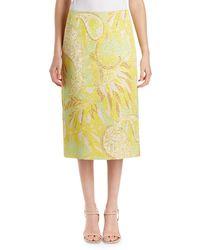 Dries Van Noten | Scola Floral Brocade Midi Skirt | Lyst