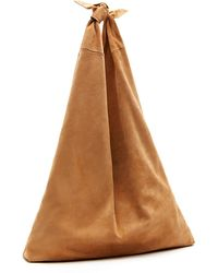 The Row - Bindle Knot Suede Hobo Bag - Lyst