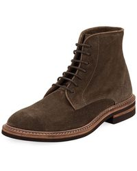 Brunello Cucinelli   Kude Suede Lace-up Boot   Lyst