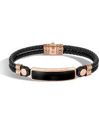 John Hardy - Men's Classic Chain Onyx Id Bracelet - Lyst