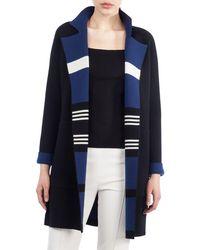 Akris - Open-front Reversible Striped Cashmere Knit Coat - Lyst