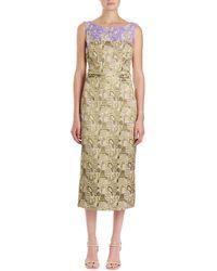 Dries Van Noten | Delicia Brocade Sheath Dress | Lyst
