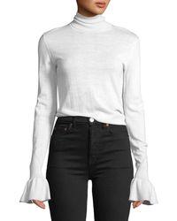 Veronica Beard - Tol Bell-sleeve Wool Turtleneck Sweater - Lyst