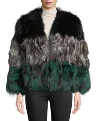 Adrienne Landau - Multicolor Fox Fur Jacket - Lyst