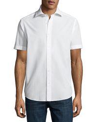 Neiman Marcus - Seersucker Short-sleeve Sport Shirt - Lyst