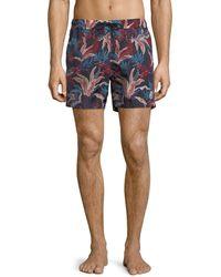 Moncler - Floral-print Swim Trunks - Lyst
