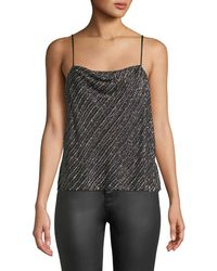 Parker - Summer Sequined Cowl-neck Tank - Lyst