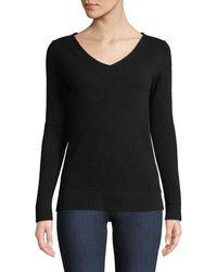 Neiman Marcus - Cashmere Modern V-neck Sweater - Lyst